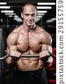 锻炼 健身房 举起 29155759