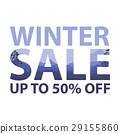 Winter sale words on the beautiful Chrismas 29155860