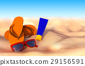 3D rendering of accessories for vacation 29156591