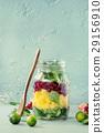 Fruit salad in mason jar 29156910
