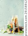Salads in mason jars 29156912