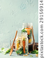 Salads in mason jars 29156914