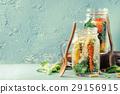 salad, jar, mason 29156915
