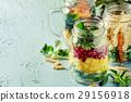 salad, jar, mason 29156918