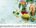 salad, jar, mason 29156919