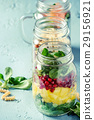 salad, jar, mason 29156921