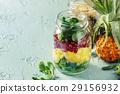 Salads in mason jars 29156932