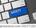 safety keyboard closeup 29157183