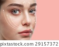 Beautiful young woman. Plastic surgery concept 29157372