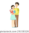 Young Parents With Newborn Kid In Arms 29158326