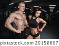 athlete couple gym 29158607