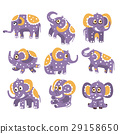 elephant, polka-dotted, stylized 29158650