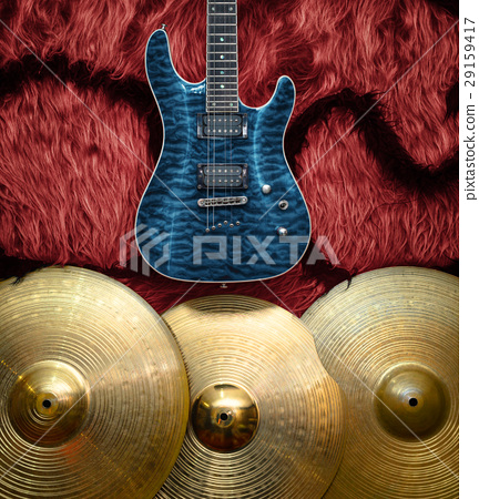 Background with musical instruments 29159417