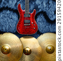 Background with musical instruments 29159420