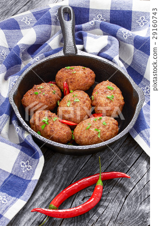juicy delicious meat cutlets 29160743