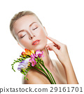 Relaxing Woman Spa Model Isolated  29161701