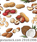 nut, seamless, pattern 29161996