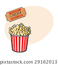 popcorn, cinema, vector 29162013