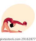 Beautiful, flexible girl in leotard doing rhythmic 29162877