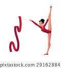 Girl standing in vertical leg split, rhythmic 29162884