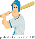 Man Baseball Uniform Batter 29170339