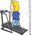 Man Workout Treadmill 29170372