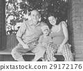 Happy family of three 29172176