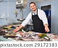 man, fish, squid 29172383