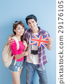 couple take british flag 29176105