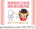 """จีน (อักษรย่อ) """"เทกระดาษชำระที่ใช้แล้วลงในโถสุขภัณฑ์"""" การโทรป๊อป (ด้วยภาษาอังกฤษ) 29176721"""