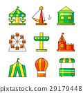 Amusement park vector icons 29179448