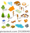 camping element isometric 29180646