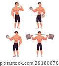 bodybuilder, athlete, cartoon 29180870