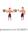 bodybuilder, athlete, vector 29180871
