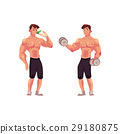 bodybuilder, vector, illustration 29180875