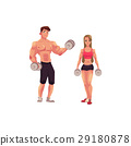 bodybuilder, training, vector 29180878