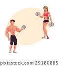 bodybuilder, athlete, vector 29180885