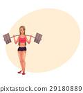 bodybuilder, woman, vector 29180889