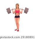 bodybuilder, woman, vector 29180891