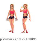 bodybuilder woman vector 29180895