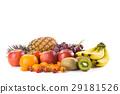 fresh fruits on white background 29181526