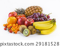 fresh fruits on white background 29181528