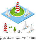 lighthouse isometric view 29182386