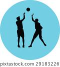 籃球 球 人影 29183226