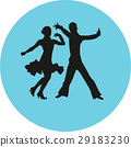dancer, couple, silhouette 29183230