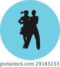dancer, couple, silhouette 29183233