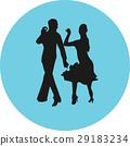 dancer, couple, silhouette 29183234