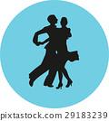 dancer, couple, silhouette 29183239