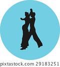 dancer, couple, silhouette 29183251