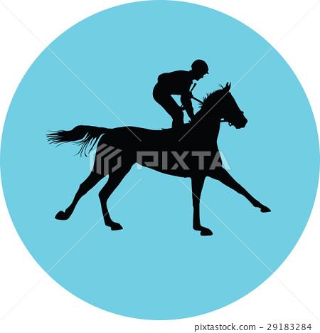 horse and jockey 29183284